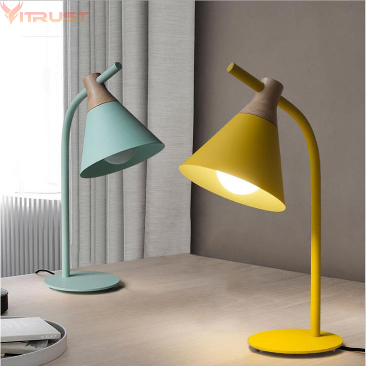 iwhd modern led desk lamp wooden deer table lamps creative lovely fixtures for children study room bedroom bar lamparas de mesa Nordic Table Lamps Lights Fixture Bedroom Bedside Wooden Lampada tavolo lamparas de mesa living room Modern study desk lamp