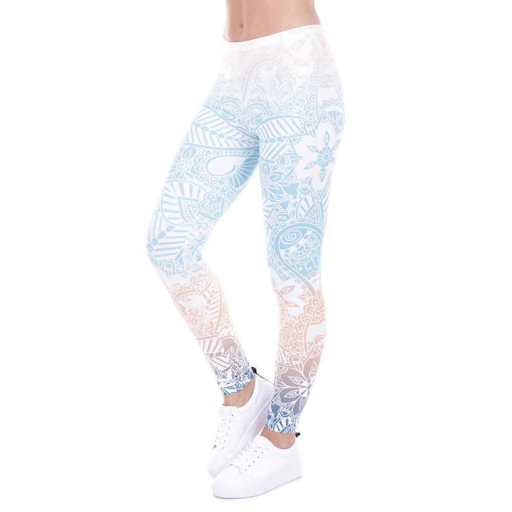9cdd2c754a ... Women Fitness Leggings Fashion Legging Aztec Round Ombre Printing  Leggins Female Legins Sexy Pants High Waist ...