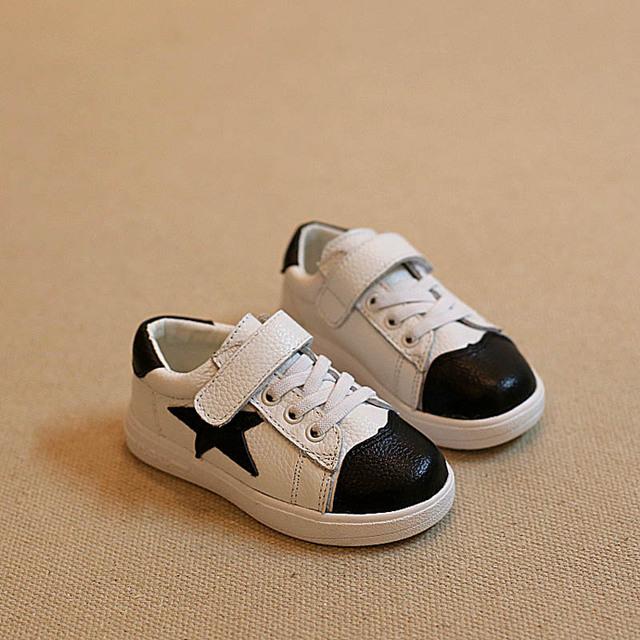 WENDYWU 2016 Primavera otoño bebé zapatos niños sneakers niños zapatos deportivos para niños zapatillas de deporte corrientes de cuero muchachas de la marca de las zapatillas de deporte
