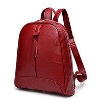 Women Genuine Leather Backpack Shoulder Bag 2016 New Female Backpack 1454