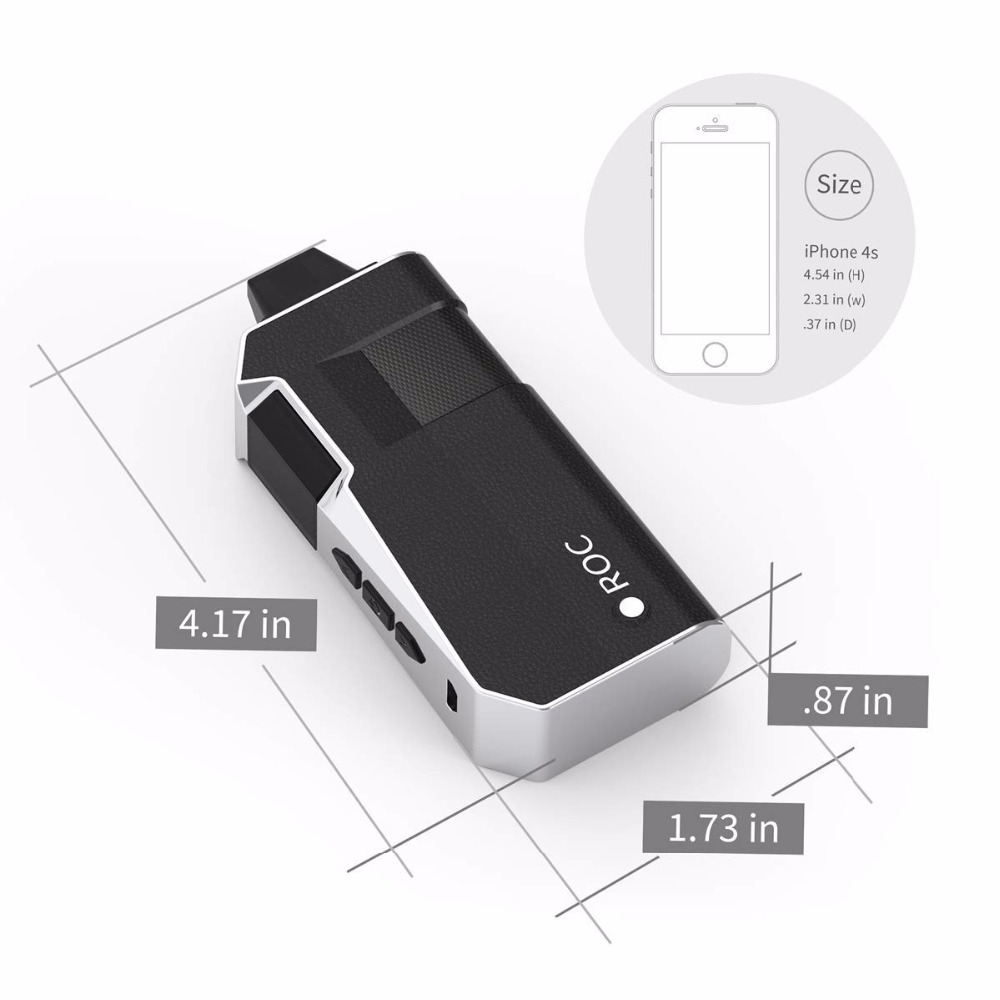 , Benecig Electronic Cigarette Vaper Dry Herb Vaporizer 2200mAh Battery Pure Ceramic Chamber Herbal Vaporizer E Cigarette Vape Kit