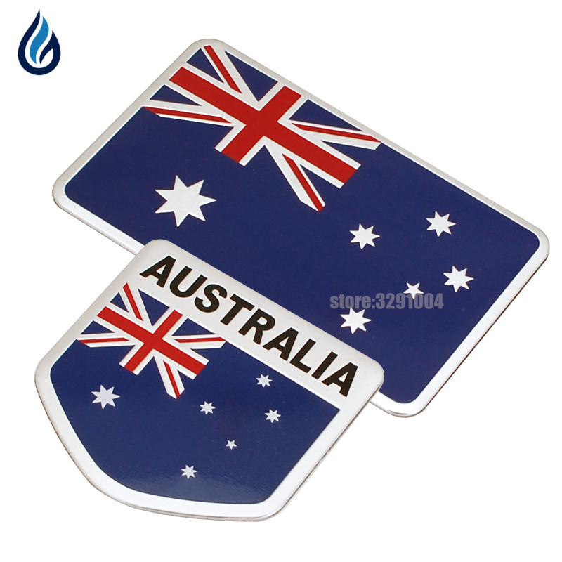 Австралийский флаг, эмблемы Стикеры для Toyota Hilux Corolla Camry hyundai i30 Tucson Ford Ranger Mazda 3 CX-5 Holden Commodore