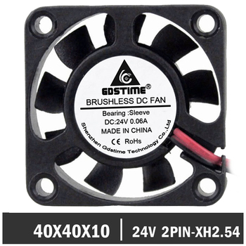 2pcs/lot Gdstime 2Pin 40mm 4010 Axial 40mm x 10mm DC 24v Cooling Cooler Fan 50pcs gdstime dc 24v 40mm 40x40x15mm 2 pin server square axial cooling cooler fan