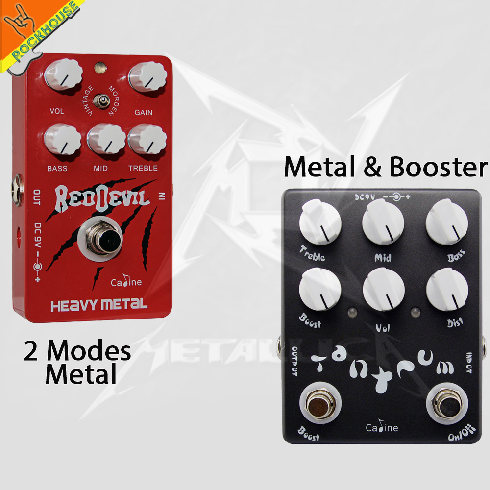 Caline Metal Distortion Guitar effects Pedal Extreme Heavy Metal Rock Style with 3-Bands Equalizer True Bypass Free Shipping