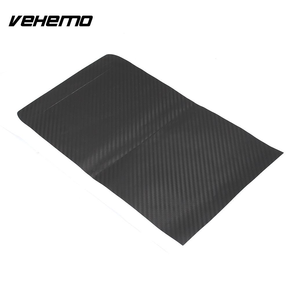 Vehemo Carbon Fiber Vehicle Car Decals Paint Protection Car Sticker HIGH GLOSS Car Protection Film Door for Tesla Model S and X