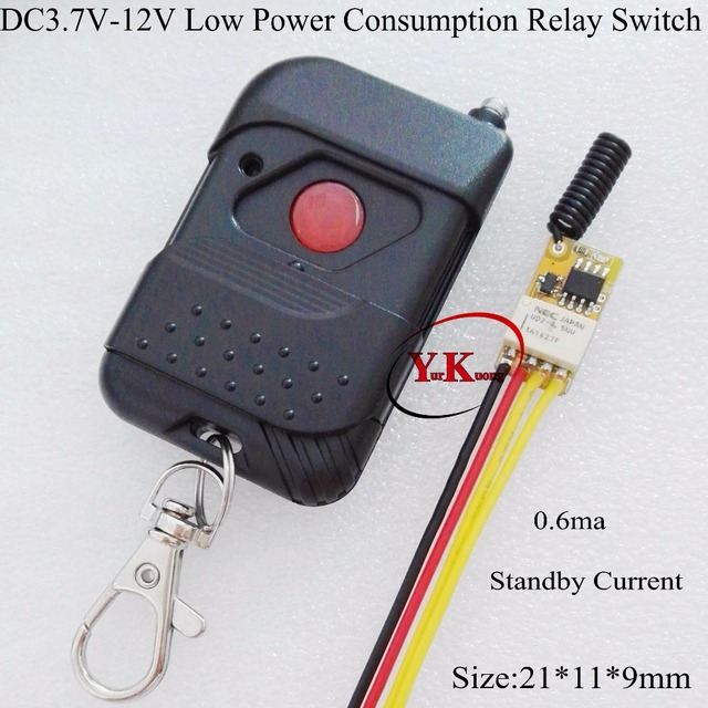 LiPo Battery Power Supply Remote Switch Micro Contact Relay
