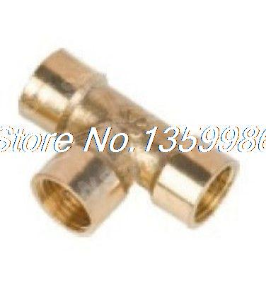 25pcs 3 ways 1/8 BSP Tee Female Connection Pipe Brass Coupler Adapter 1 2 male inch bsp length 49 x 36 6mm wall thickness 3mm elbow connection thicken brass pipe adapter coupler connector 232psi