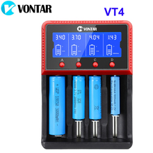 VONTAR VT4 4 חריצים LCD סוללה מטען נטענת סוללה עבור NiMH Ni CD LiFePo4 AA AAA 26650 14500 22650 18650 PK D4 D2