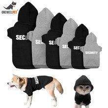 Пальто для собак кошек одежда Черный, Серый Цвет Хлопок высокого качественная толстовка с капюшоном со шляпой и английские слова о безопасности для Тедди и Другое для домашних животных собак