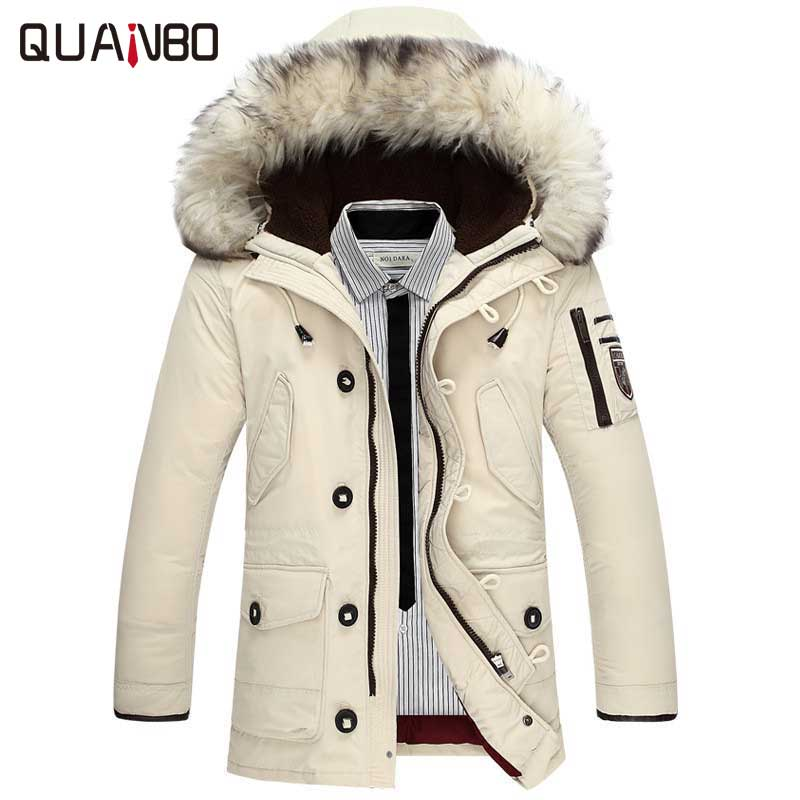 2018 new brand clothing jackets thick keep warm men is   down   jacket high quality fur collar hooded   down   jacket winter   coat   Male