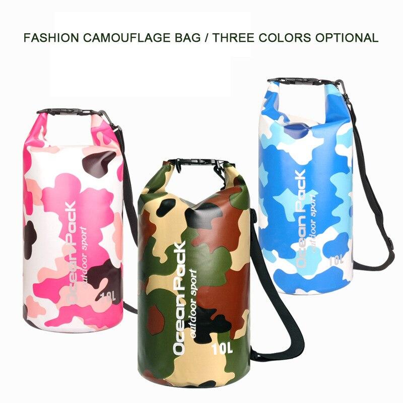 5L/10L/15L/20L/30LWaterproof Bags Storage Dry Sack Bag Camouflage Backpack For Canoe Kayak Rafting Outdoor Sport Swimming Bags
