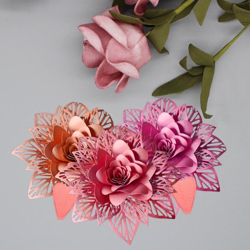 Flowers Metal Cutting Dies DIY Scrapbooking Dies Metal steel Cuts photo Album Paper Cards Crafts Embossing Templates 58 100 mm in Cutting Dies from Home Garden