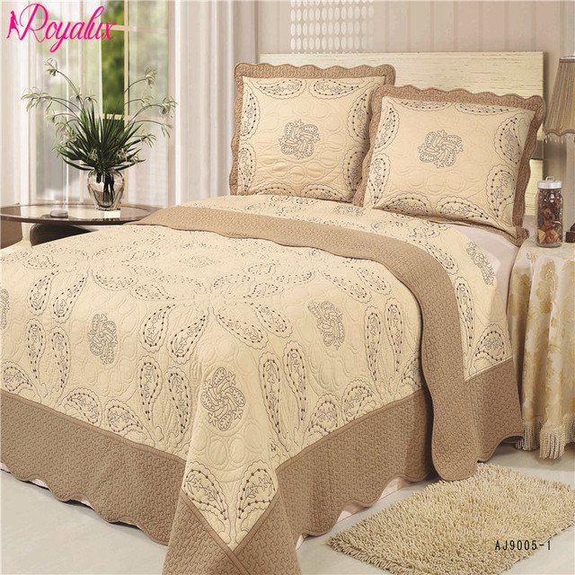 europe high quality 230 250cm quilted bedspreads with pillowcases on