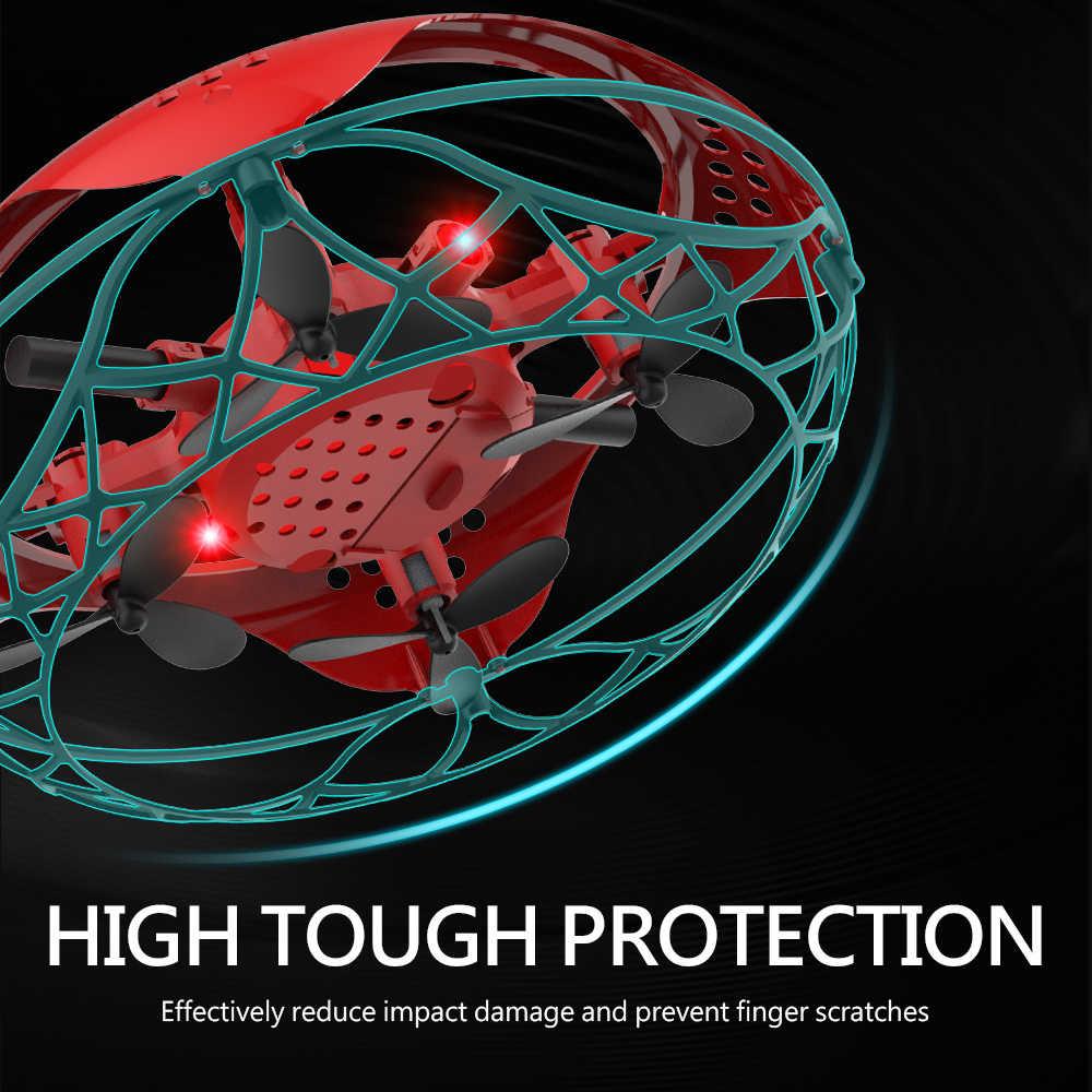 L101 طائرة بدون طيار صغيرة المضادة للتصادم UFO أجهزة الاستقبال عن بعد بدون طيار اليد التي تسيطر عليها تحلق هليكوبتر LED التعريفي تحلق الطائرات RC اللعب
