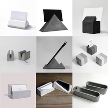 Concrete container silicone old  tube vase concrete holder mold, cement base mold Simple home office