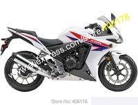 Hot Sales,For Honda Motorcycle CBR500R 2013/2014 CBR 500R 13/14 ABS Cowling CBR500 White Moto Spare Fairings (Injection molding)
