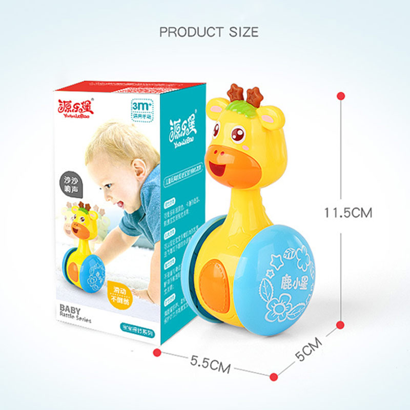Baby Rattles Tumbler Doll Toys Bell Music Learning Education Toys Gifts For 0-12 Months YH-17