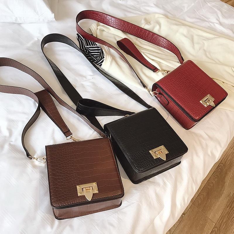DIINOVIVO Fashion Alligator Female Handbags Designer Crossbody Bags for Women Small Square Bag Shoulder Messenger Purse WHDV0917 2