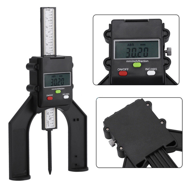 Self-standing Digital Depth Gauge 80mm Height Depthometer Instrument Table Bench Saw Tool For Router Table