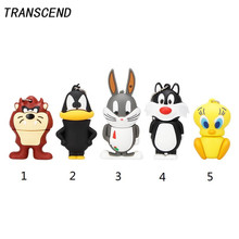 Transcend 100% Real Capacity Mini Cute Rabbit Flash Drive High Speed 3.0 4GB 8GB 16GB 32GB 64GB USB U Disk pendrive Gift Lanyard