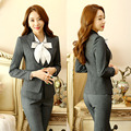 Formal Elegant Pant Suits With Jackets And Pants for Business Women Work Wear Ladies Office Uniforms Styles Trousers Set