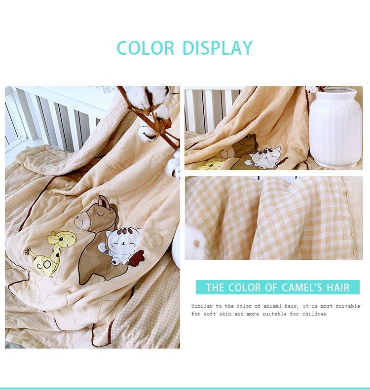 2018 New style Baby Blanket Summer Bedding Sofa 100% Cotton Newborn Crib bed cute quilt