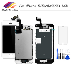 AAA+++ LCD For iPhone 5 5g 5s 5c Screen 6 6g 6s LCD Display Home Button+Front Camera+Speaker Touchscreen Digitizer Assembly