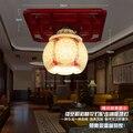 Modern Led Luzes de Teto de Cerâmica Para Sala de estar teto luminaria bambu Candeeiros de Tecto de cristal Para A Decoração Home Frete grátis
