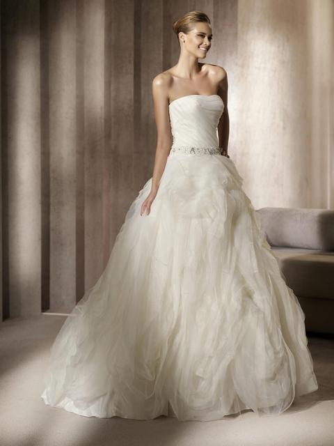 Elie Saab Wedding Dresses.Us 209 0 Elegantsexy Sweetheart Bodice Corset Rhinestone Belt Ivory Organza Ruffle Elie Saab Bridal Ball Gown Wedding Dress 2014 New Arri In Wedding