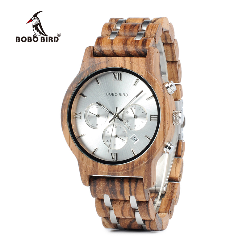 BOBO BIRD Women Wooden Watches Quartz Ladies Wristwatch Stopwatch reloj mujer zegarek damski in wood box