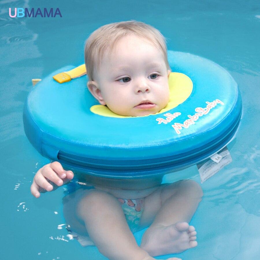 Высокое качество безопасности ребенка не нужно надувные плавающей зеленый кольцо вокруг шею плавающей кольцо детские игрушки бассейн