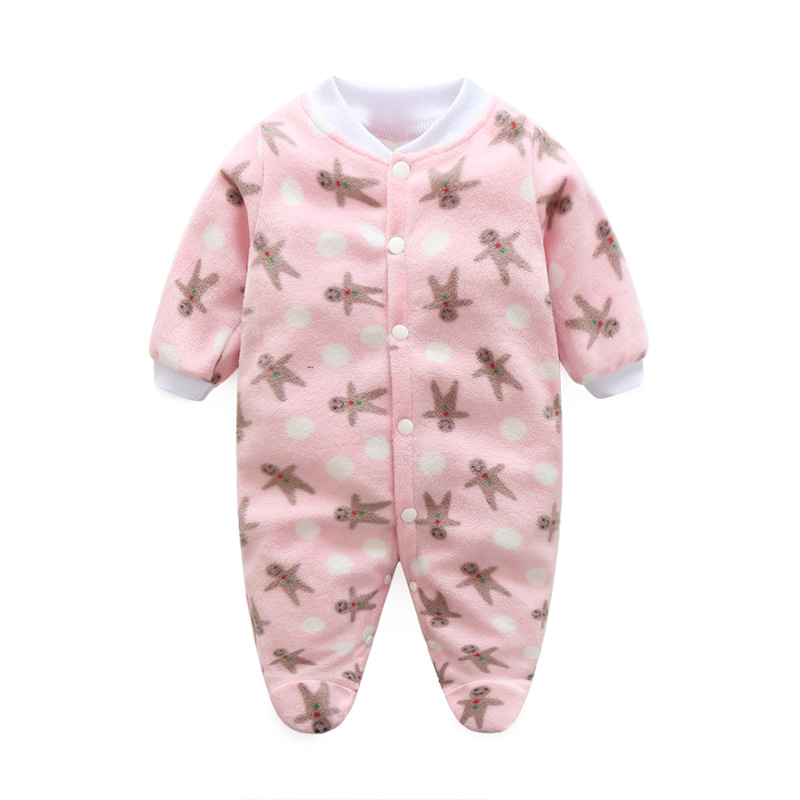 Brand Baby Rompers Unisex Fleece Newborn Baby Clothes Long Sleeve Striped Cartoon Infant Jumpsuit Toddler Kids Christmas Costume 2017 new fashion cute rompers toddlers unisex baby clothes newborn baby overalls ropa bebes pajamas kids toddler clothes sr133