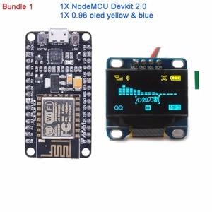 Image 2 - NodeMCU Devkit 2.0 CP2102 IIC SPI Basato su ESP8266 ESP 12 + 0.96 Serial IIC I2C Modulo Display OLED RCmall DIYmall
