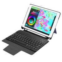 Bluetooth Keyboard Leather Protective Cover Kickstand Cover For iPad 9.7inch 2017 2018 Detachable Keyboard With Pencil Holder