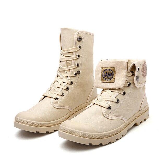 boots homme bottes militaires Plus Taille Nouvelle mode homme chaussure de travail pour homme Haut qualité chaussures homme ete 2017 qelScn