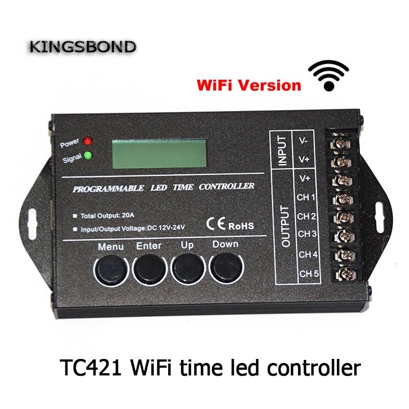 Dc12 Dc24v Tc421 Wifi Time Programmable Led Controller