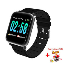 A6 blood pressure Smart Bracelet large color screen fitness tracker Step Counter Activity Monitor smart watch