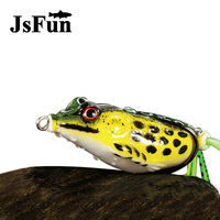 JSFUN 20pcs Lot Soft Plastic Fishing Lures Frog Lure With Treble Hooks Top Water Ray 5CM