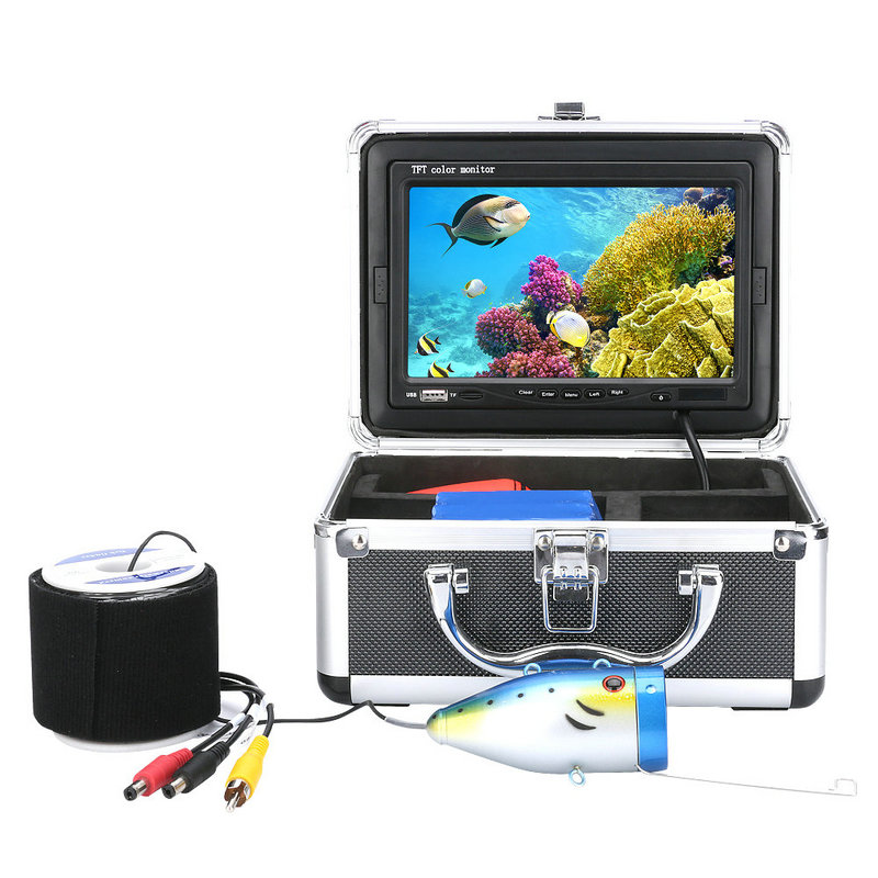 20M/30M/50M 7'' inch 1000TVL Fish Finder HD DVR Recorder Waterproof Fishing Video Underwater Fishing Camera 12LEDs Infrared Lamp free shipping boblov 15m 7 lcd 1000tvl fish finder infrared fishing camera dvr recorder ip68
