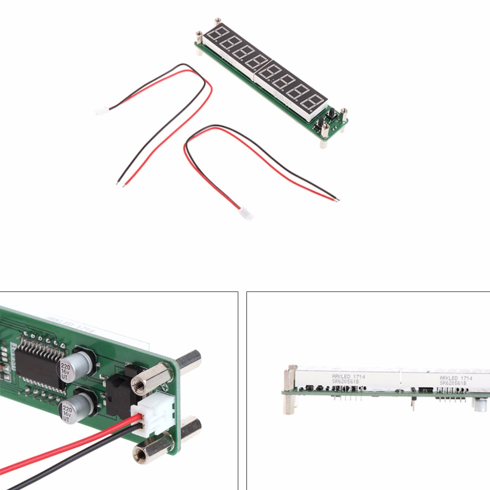 0.1-60MHz 20MHz-2.4GHz RF 8 Digit LED Singal Frequency Counter Meters Cymometer Tester Tool