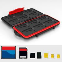 New Arrival Waterproof Carrying 24 SD TF Memory Cards Storage Box Protector Case Holder Office & School Supplies