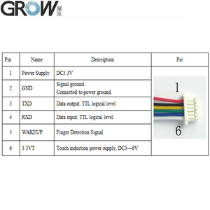 Image 5 - GROW K216+R503 Two Color Ring Indicator Light Relay Time 0.5s 20s Capacitive Fingerprint Access Control Board
