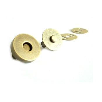Cierres a presión magnéticos de 18mm Cierre magnético de latón antiguo cierre de bolsa 200 set/lote