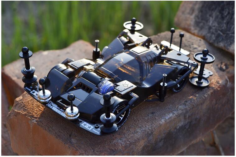 Livraison gratuite noir Transparent Tamiya Mini 4WD voiture châssis FM 19411 (non assemblé)
