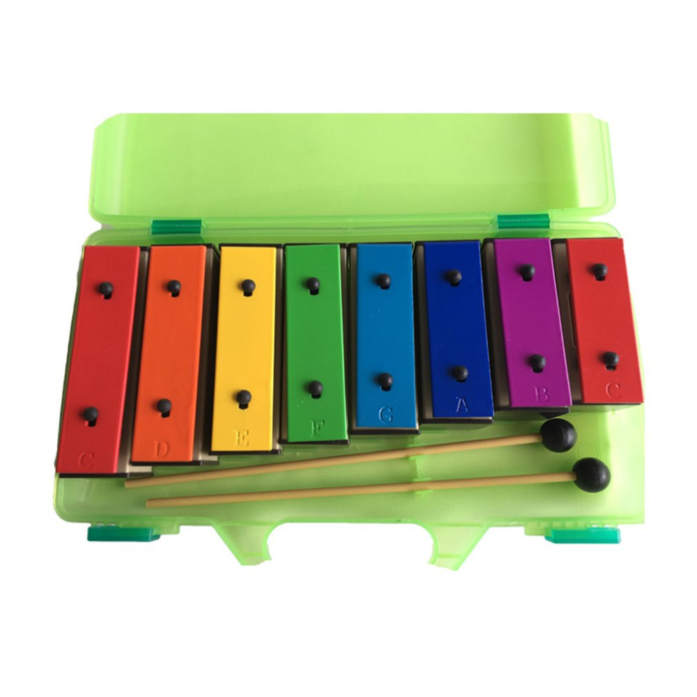 TL8-15 8 notas xilófono Primera Infancia niños instrumento de música bebé aprendizaje instrumento de música con caja de plástico de regalo para niños