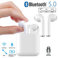 Mini i9s TWS Wireless Earphone V5.0 Bluetooth Earphones In-Ear Earbuds Headset with Charging Box Mic for iPhone 6 7 Samsung