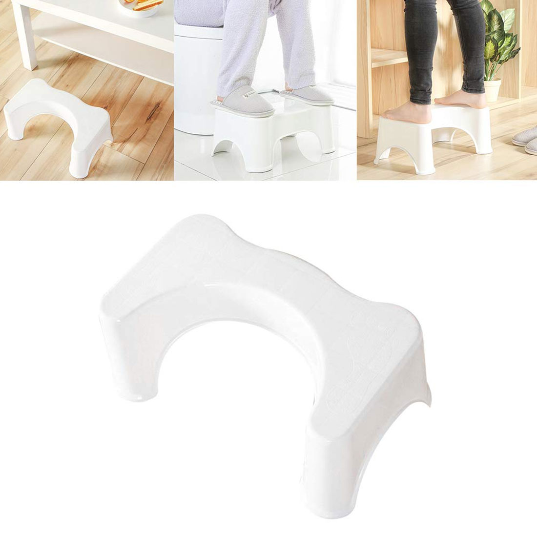 Bathroom Set U-Shaped Toilet Stool Bathroom Non-Slip Stool Helper Assistant Foot Seat Squatting Children Pregnant Footstool