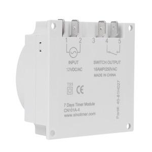 Image 4 - CN101A modèle économique Mini minuterie interrupteur 12v LCD numérique 7 jours Programmable minuterie four minuterie interrupteur 16a minuterie ca minuterie de semaine