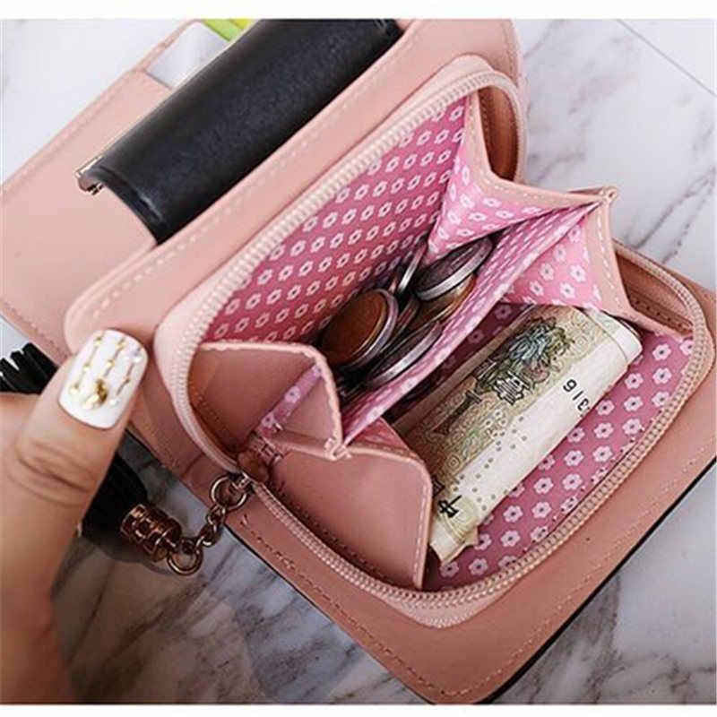 Новый корейский милый кот аниме кожаный тройной бумажник тонкий мини-кошелек женский маленький клатч женский кошелек для монет и карт держатель доллар клатч