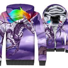 New Style 2019 Winter Warm Animal 3D Hoodies Men Horse Printed Short Jackets Harajuku Sweatshirts Plus Size Zip Coat